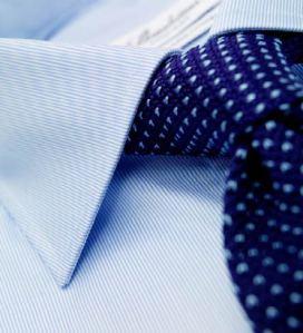 Trådarna som krävs för att göra en skjorta ifrån Stenströms räcker till fem skjortor ifrån TailorStore