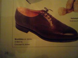 En populär, klassisk skomodell kallad?