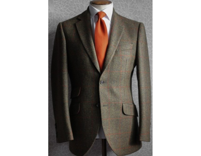 hackett-olive-country-check-tweed-jacket