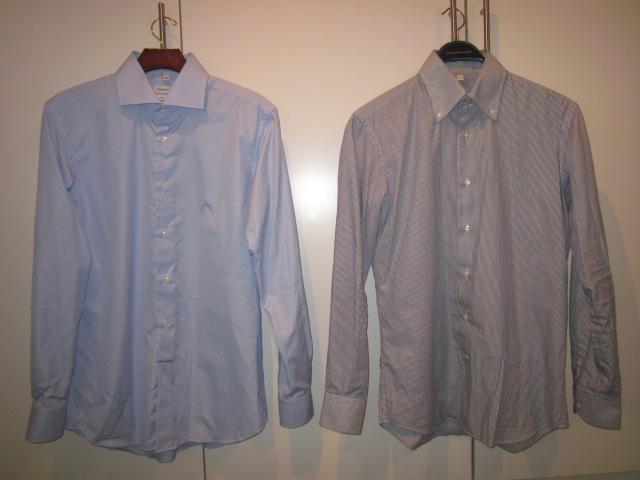 Nyare leverans, bredvid en nyligen och länge välanvänd (taskigt struken) skjorta.