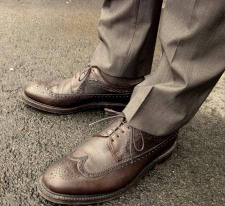 Mina valnötsbruna A:S: Stepneys, till ljusare brun kostym